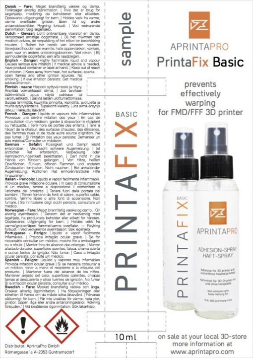 APRINTAPRO PrintaFix Basic Sample flyer