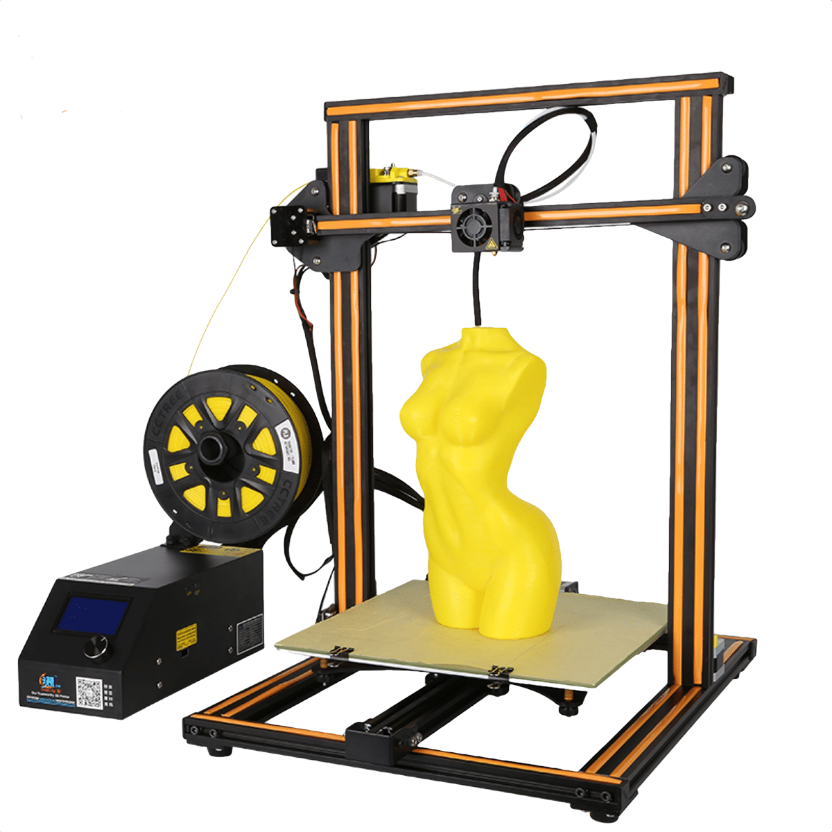 CREALITY 3D CR10S Yellow Woman Model